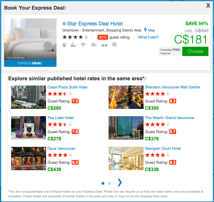 PriceLine List of Hotels
