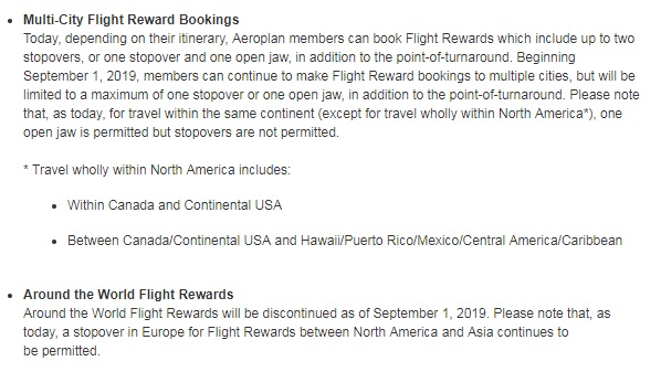 Aeroplan mini-rtw devaluation